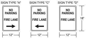 FIGURE D103.6 FIRE LANE SIGNS